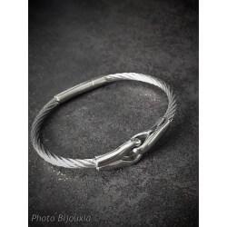 Bracelet Jonc HOMME Câble...