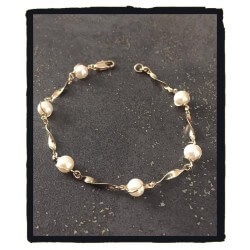 Bracelet Perles Blanches en...