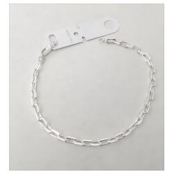 Bracelet Maille Cheval En Argent Massif 925/1000 Poinçoné Bijoux Neuf