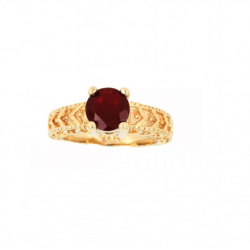 Bague Taille 58 Cz Rubis...