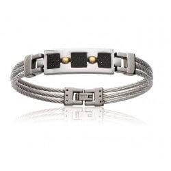 Bracelet Câble Carbone et...