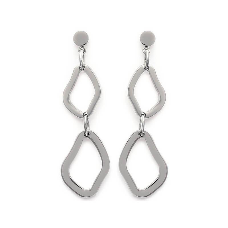 boucles d'oreilles pendantes acier inoxydable