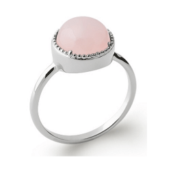 Bague Cabochon Quartz Rose...
