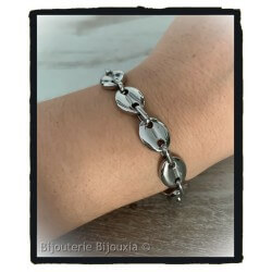 Bracelet Homme Maille Grain...