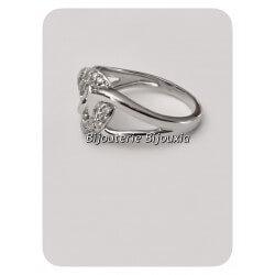 Magnifique Bague anneaux entrelacés ZIRCONIUM  Argent 925/1000 Bijoux femme