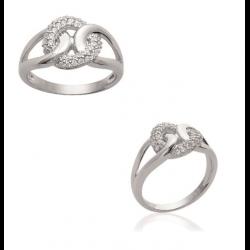 Bague anneaux entrelacés...