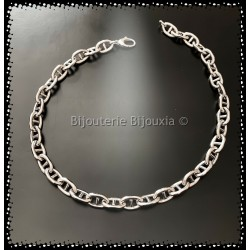 Collier Large Maille Marine...