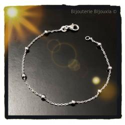 Bracelet Fines Boules En...