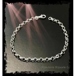 Bracelet Maille Jaseron En...
