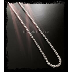 Chaîne Maille corde 60 cm...