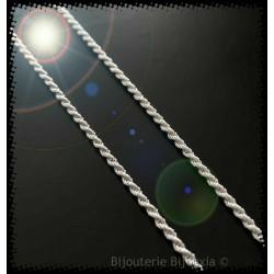 Bracelet Maille corde 18 cm...