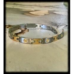 Bracelet Bicolore Acier...