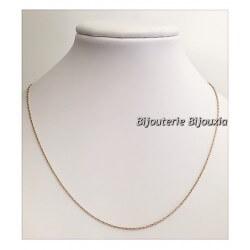 Chaîne Maille forçat Plaqué Or 18 carats Garanti 10ans  42 cm  Bijoux NEUF