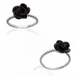 Bague TAILLE 54 Fleur Rose...