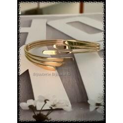 Bracelet Jonc Large Plaqué...