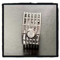 Bague Large Taille 56 Multi...