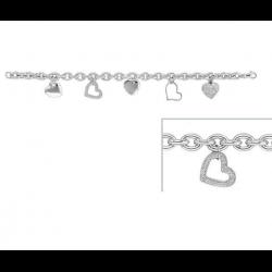 Bracelet Charms Coeurs...