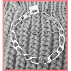 Bracelet Maille Figaro 23cm...
