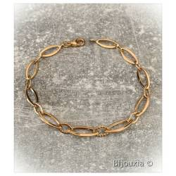 Bracelet Maillons Ovales En...