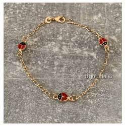 Bracelet Coccinelles Plaqué...