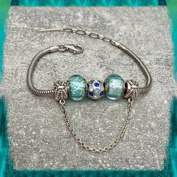 Bracelet CHARMS Bleu Clair...