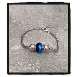 Bracelet CHARMS Perle Bleu...