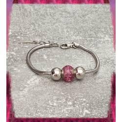 Bracelet CHARMS Perle Rose...