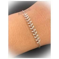 Bracelet Feuilles Laurier...