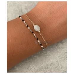 Bracelet double rang pierre...