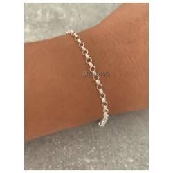 Bracelet Fin Maille Jaseron...