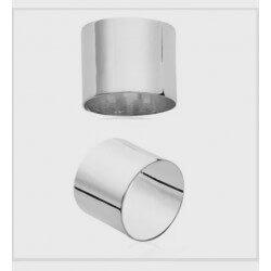 Bague Alliance épaisse Cylindre Argent Massif 925/1000  Bijoux Homme/Femme