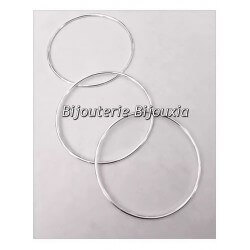 Bracelets Lot Triple Joncs  Argent Massif 925/1000  6,6cm  Bijoux Femme