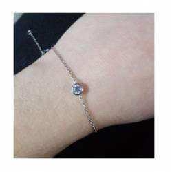 Bracelet fin Cristal Rond...