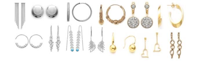 Boucles d'oreilles femme & enfant - Argent, Or, Céramique & Acier